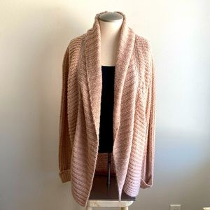 Dusty Rose Knit Cardigan with zipper feature